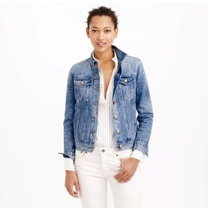J. Crew tailored fit denim jacket in Tyler Wash